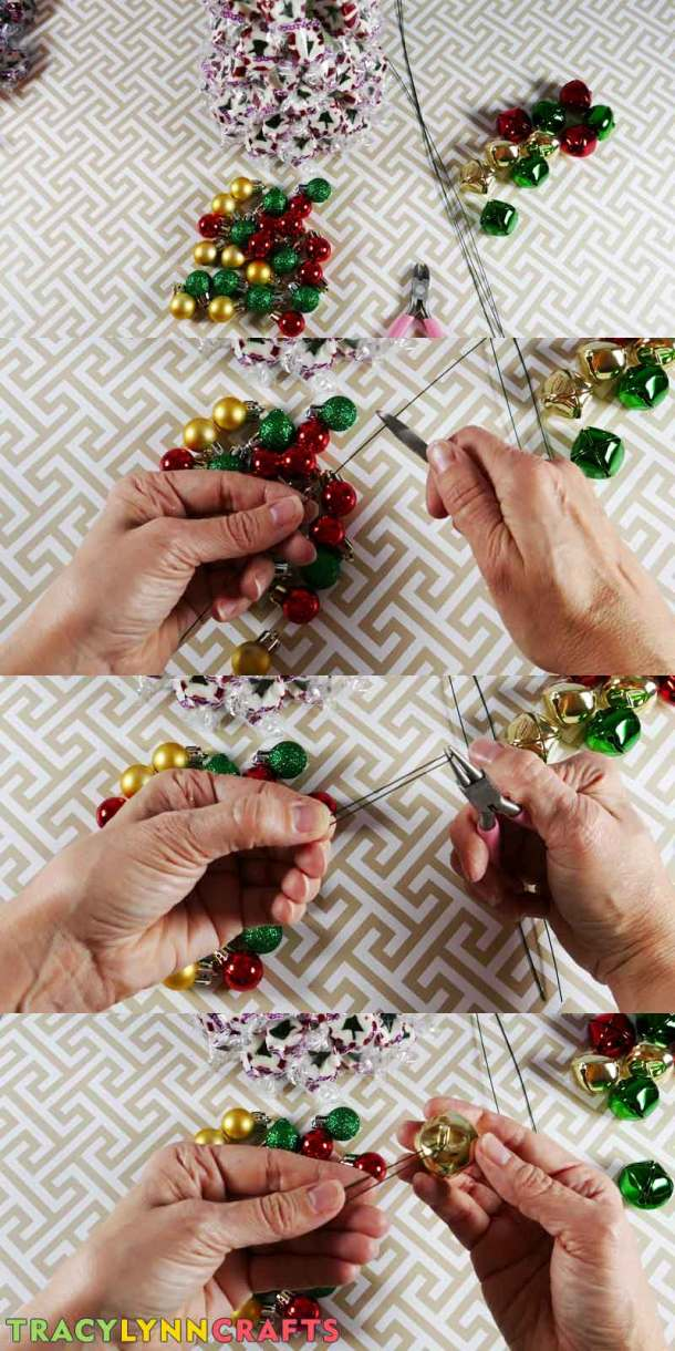 Decorate your candy nougat tree with mini ornaments