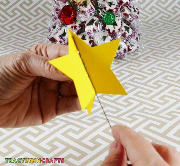 You can make your own star to add to the top of your candy nougat tree