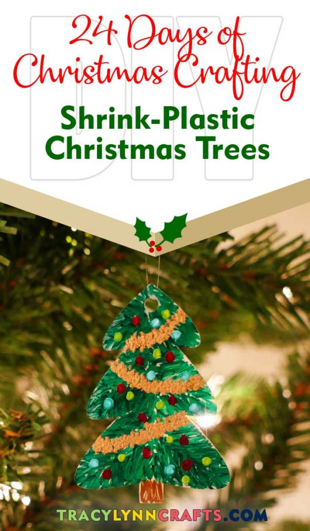Learn how to make these shrink plastic trees | easy step-by-step photo tutorial | #shrink #shrinky #diy #christmas #cricut
