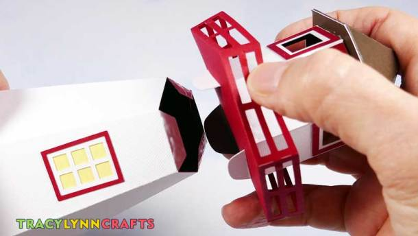 3D Paper Lighthouse - Slide the tabs into the openings