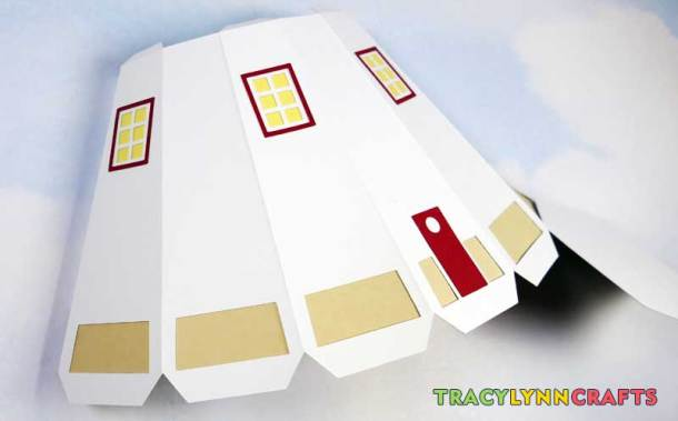3D Paper Lighthouse - The lower portion is ready to set aside to let the glue set