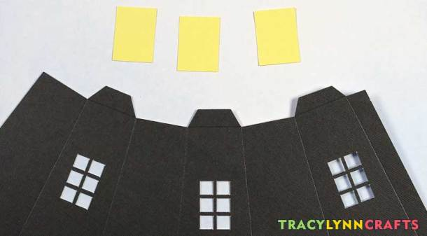 3D Paper Lighthouse - Set out the lower portion and the window backings