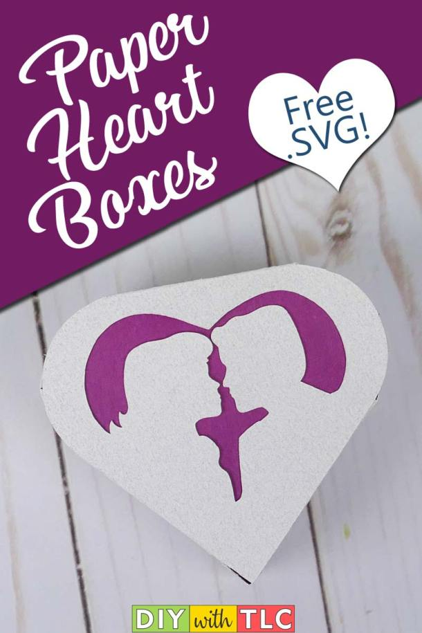 These adorable heart boxes are easy to make for your special occasions | #heart_box #heart_boxes #wedding_favor #valentine #bridal_shower #cricut #diy #paper_box