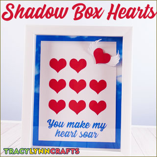 Tell someone you love that they make your heart soar. This shadow box heart art makes a great gift for Valentine's Day, an Engagement, or just because...| #love #valentine #valentines_day #heart #cricut #paper_craft #i_love_you #my_heart #you_make_my_heart_soar #3d_paper #shadow_box
