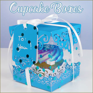 Learn to quickly make decorative cupcake boxes with matching cupcake wrappers and gift tags