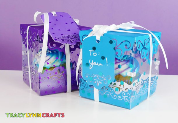 Your decorative cupcake boxes are now ready to give as gifts