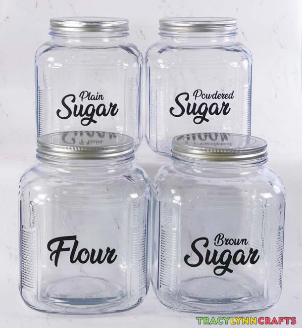 The kitchen canister labels are now complete