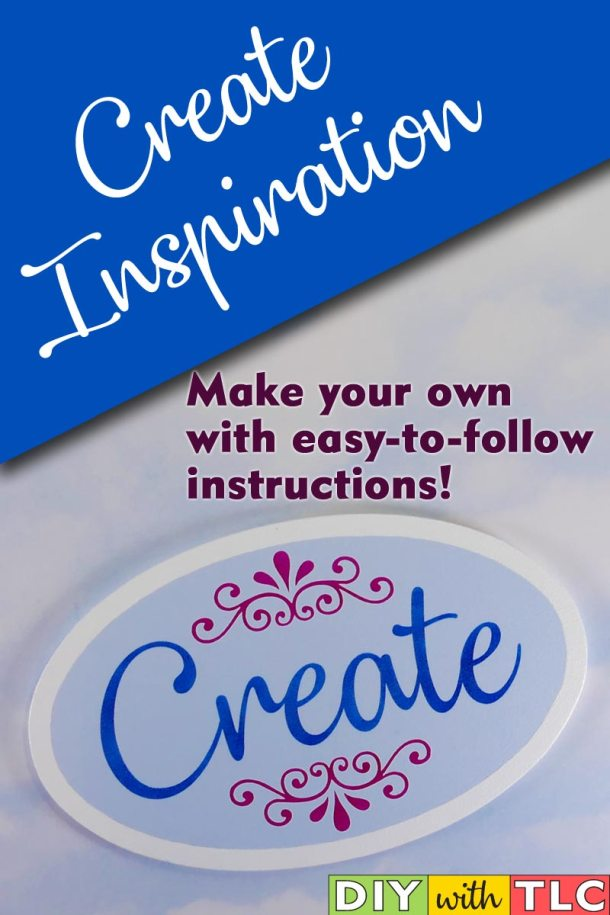 Inspire yourself or another crafter by stenciling this Create sign - Use a vinyl stencil you can cut on your Cricut | #diy #stencil #create #sign #stenciling #cricut #cricut_stencil