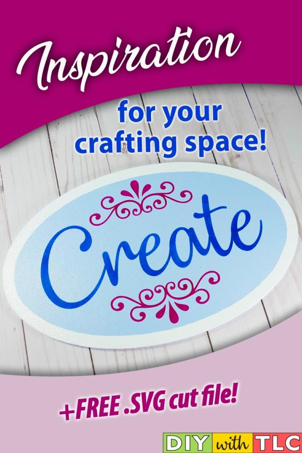 Inspire yourself or another crafter by stenciling this Create sign | #diy #stencil #create #sign #stenciling #cricut #cricut_stencil