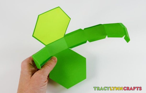 Fold each of the score lines of the shamrock box toward the inside of the box