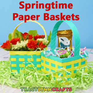Learn how to weave with paper to make these cute springtime paper baskets
