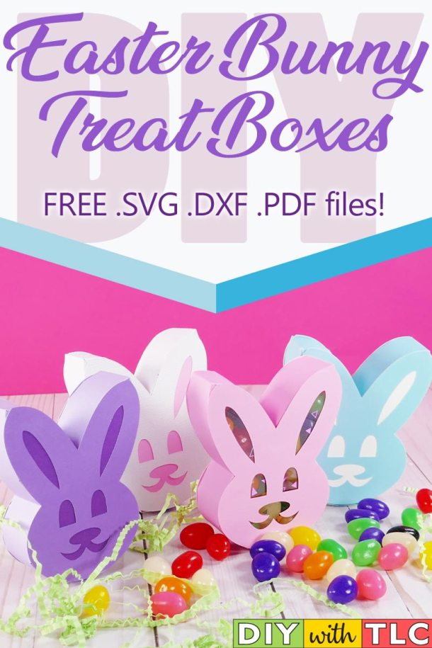 Learn how to make these folded and glued paper boxes in the shape of an Easter bunny for a decorative way to hand out treats