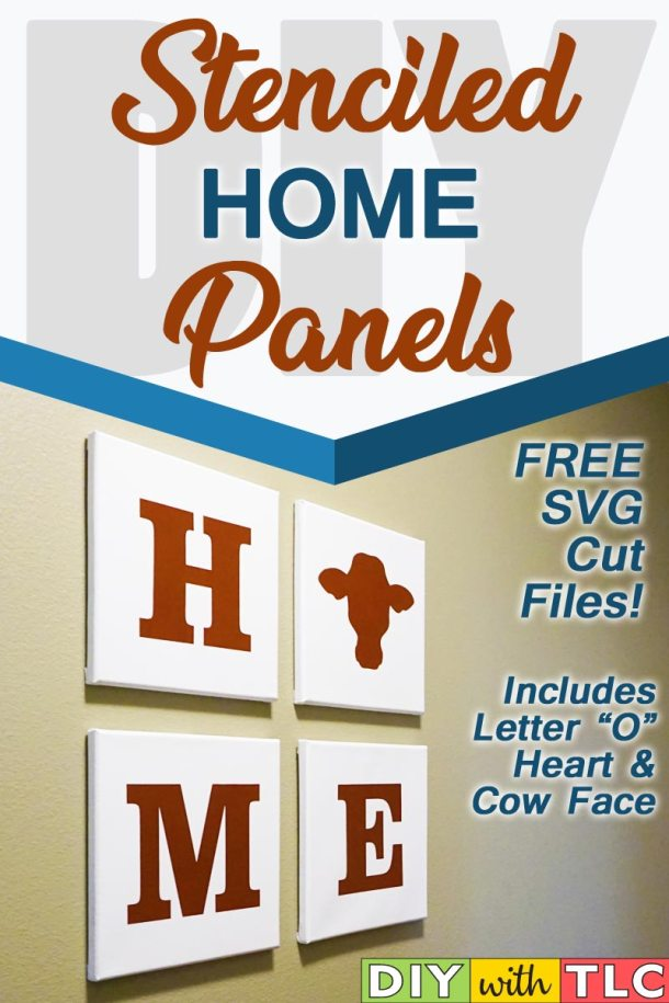 Decorate your home with these easy DIY stenciled canvas panels