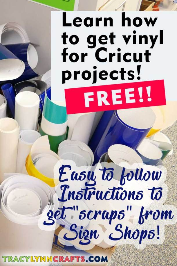 Learn how YOU can easily save money on your crafting budget by getting vinyl for free by getting scraps from sign shops