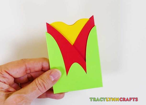 The tulip gift card envelope is now complete
