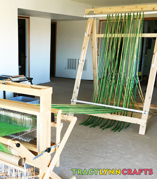 DIY Warping Trapeze to help you achieve even tension when warping your loom