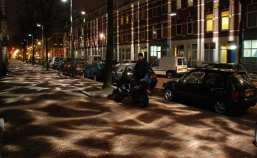 'Broken Light' softens a hardscrabble street in Rotterdam's old harbor