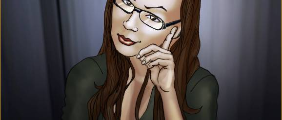 Tracy Queen smart looking selfie