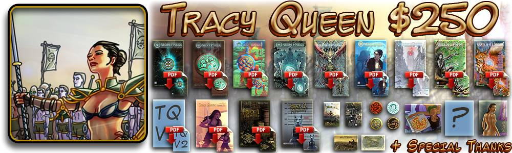 tracy queen $250 reward tier v2 dangerous experiments kickstarter