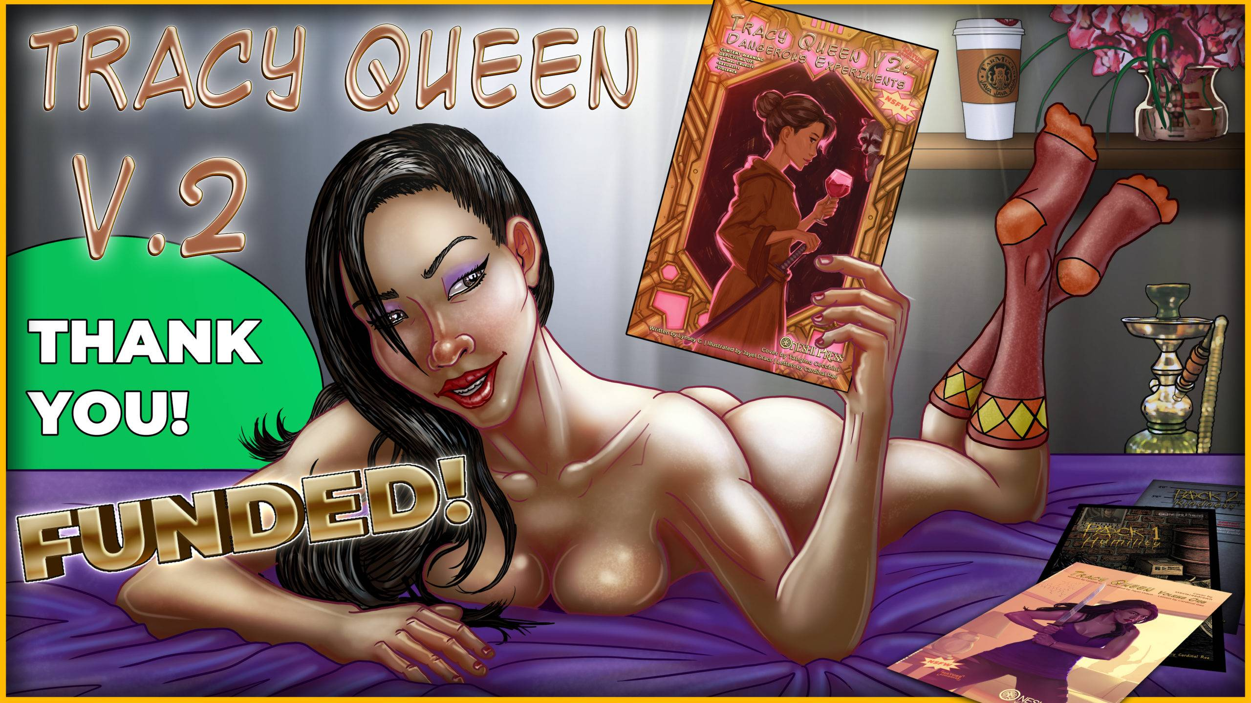 """Tracy Queen, Volume 2: Dangerous Experiments"" successfully funded on kickstarter"