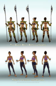Tracy Queen - Turn around in battle lingerie and athletic leisure wear