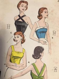 Butterwick 8207 quick and Easy Bare-Top Blouse 1950s Vintage Pattern