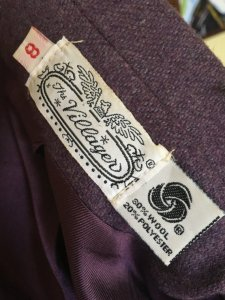 1970s Early 1980s Lavender Wool Suit