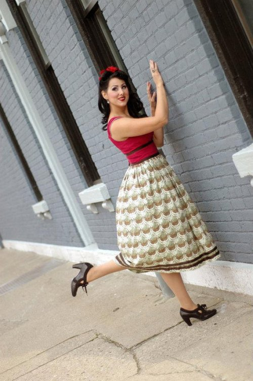 Super Girl 1950s Inspired Dress by Tracy Mcelfresh