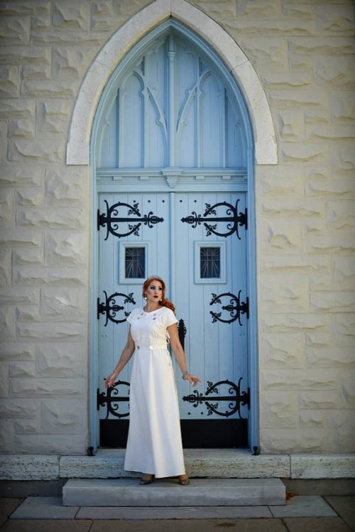 1930s Inspired Organic Wedding Gown by Tracy McElfresh