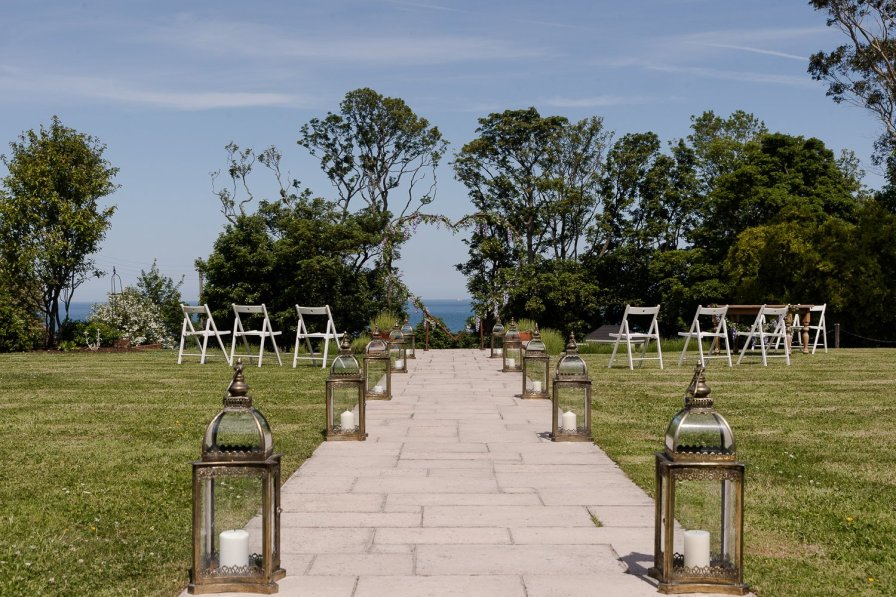 Hillmount House outdoor wedding ceremony