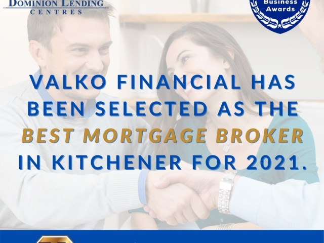 """The Valko Team is the WINNER for """"The Best Mortgage Broker in Kitchener"""""""