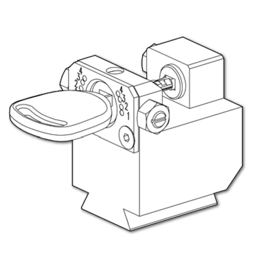 Silca Futura Key Machine Parts: Silca Futura 03R Clamp For
