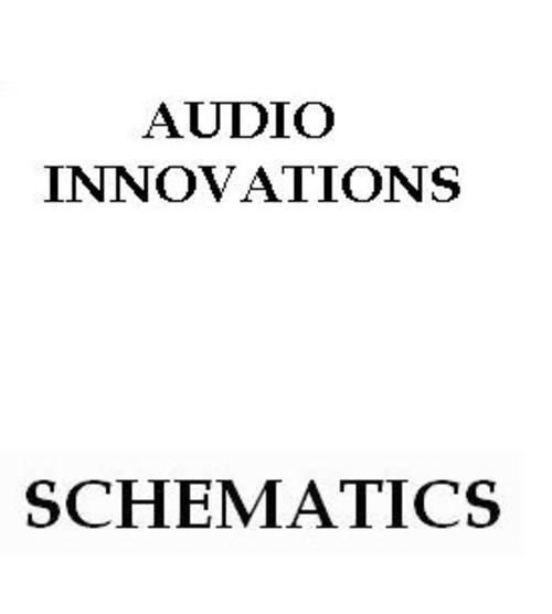 Audio Innovations series 700 Int Amp Schematics 1993