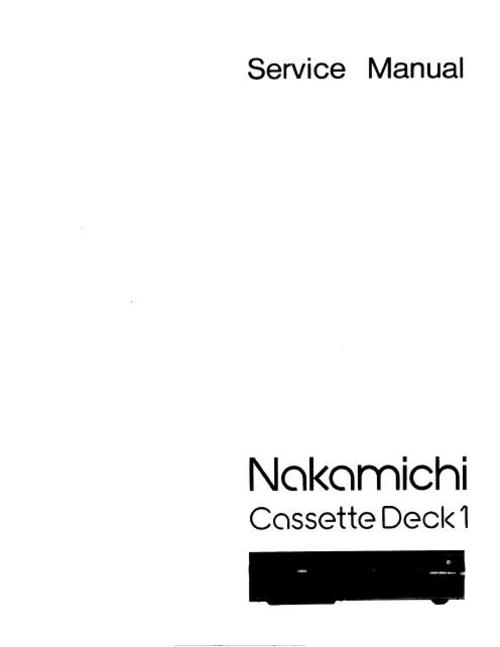 Free Nakamichi 682 zx Original Service Manual Download