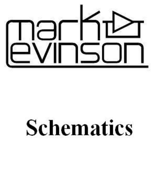 Mark Levinson no-33H Schematics for service and repair