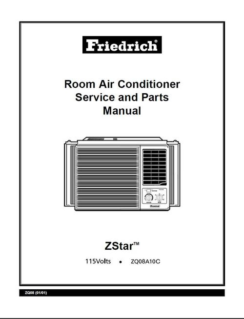 Friedrich ZQ-08-A10-C , Aircondition , Service Manual