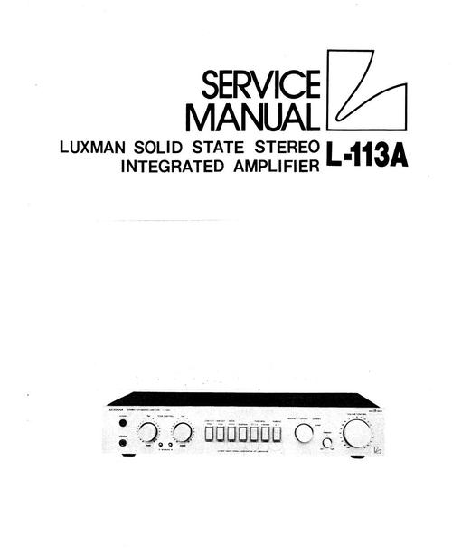 Luxman L-113-A Amplifier , Original Service Manual