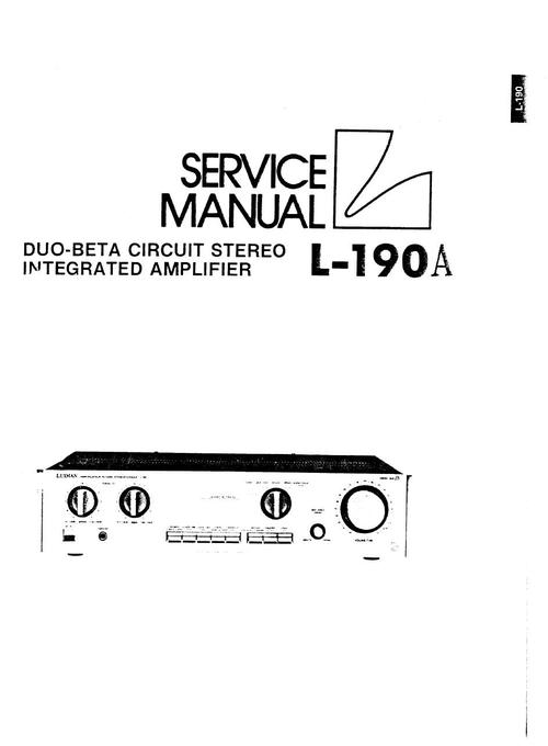 Luxman L-190-A Amplifier , Original Service Manual