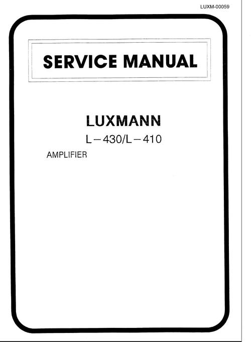 Luxman L-410 & L-430 , Schematic , PCBs & Parts List