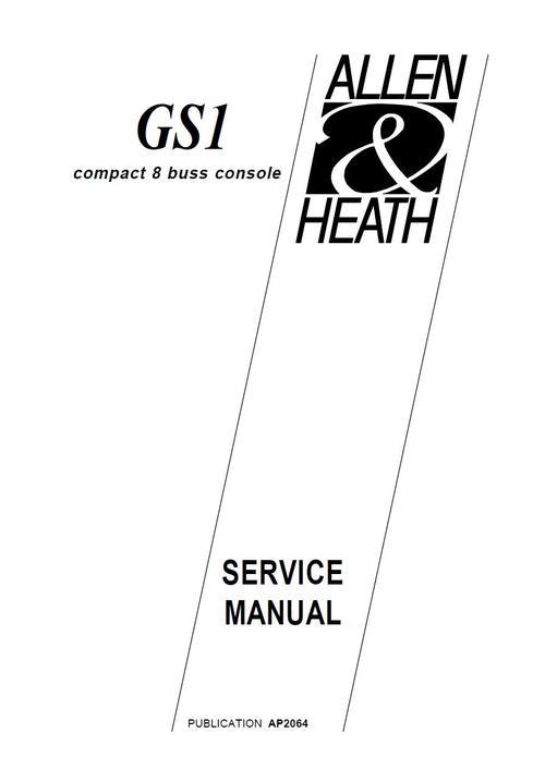 Allen & Heath GS-1,8 buss console , Original Service