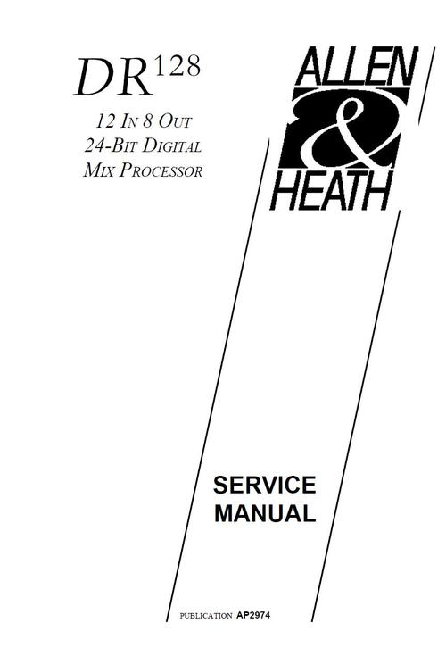Free Allen & Heath Xone-92 Mixer , Original Service Manual