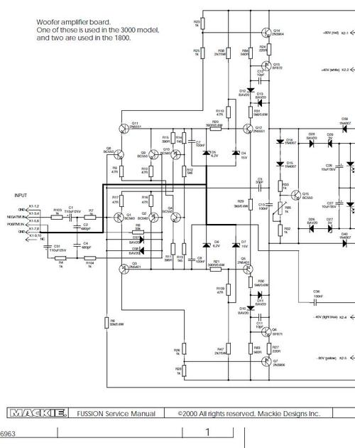 Mackie Fussion 3000 & 1800-SA , Schematics , Wiring