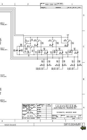 Mackie SR153 active speaker , Schematics  Download