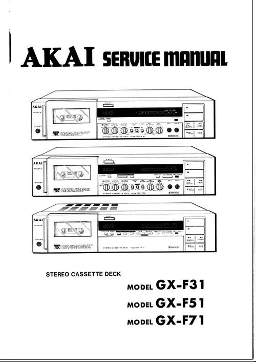 Free Akai AM-75 AM-95 Service Manual Download