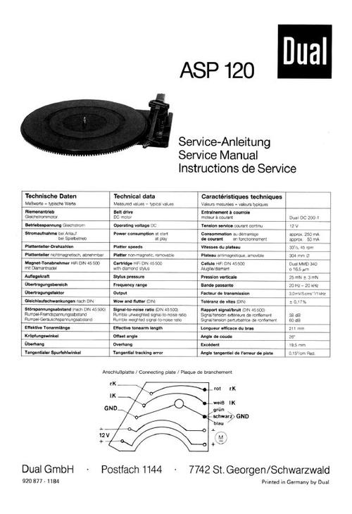 Free Dual CS-731-Q Turntable Service Manual Download