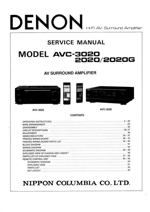 Free Denon DVD-3910 , Service Manual Download