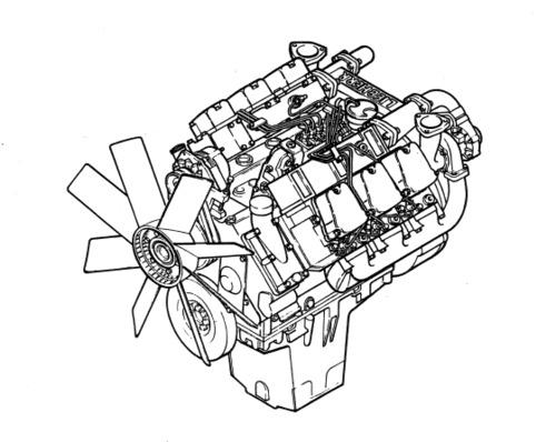 Liebherr D9306 D9308 D9406 D9408 Diesel Engine Service