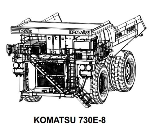 KOMATSU 730E-8 DUMP TRUCK SERVICE REPAIR MANUAL + FIELD
