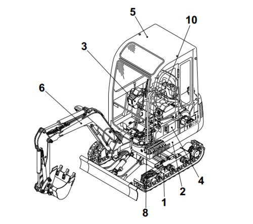 Takeuchi TB015 Compact Excavator Parts Manual Download