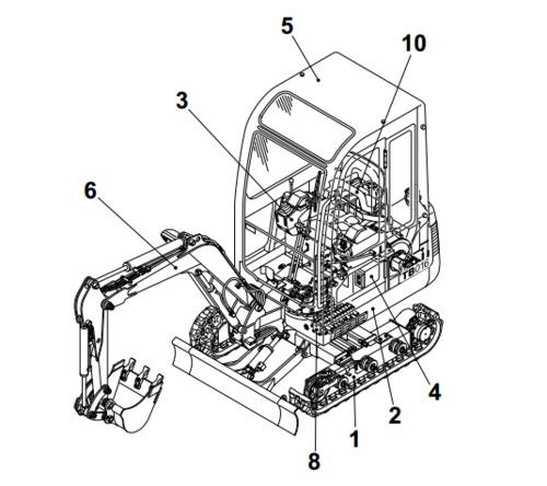 Takeuchi TB25, TB250 Compact Excavator Parts Manual